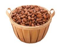 chemin de cacao de découpage d'haricot de panier Photographie stock libre de droits