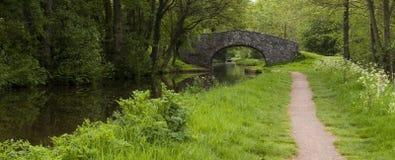 Chemin de canal image stock