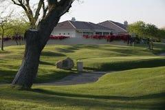Chemin de chariot de golf photos stock