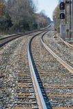 Chemin de chemin de fer à quelque part ou nulle part Photos stock