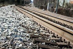Chemin de chemin de fer à quelque part ou nulle part Photographie stock