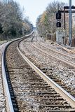 Chemin de chemin de fer à quelque part ou nulle part Photo libre de droits