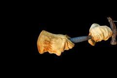 Chemin de clip de clou de marteau de gants Photographie stock libre de droits