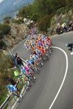 Chemin de cycle de Milan-Sanremo image stock
