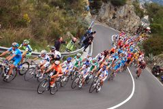 Chemin de cycle de Milan-Sanremo Photo stock