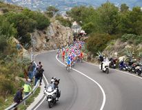 Chemin de cycle de Milan-Sanremo Photos stock