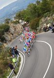 Chemin de cycle de Milan-Sanremo Images stock