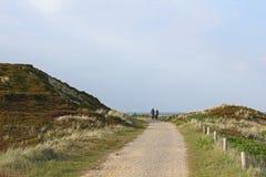 Chemin de cycle sur l'île de Sylt image libre de droits