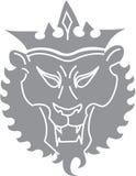 Chemin de découpage de lion Image libre de droits