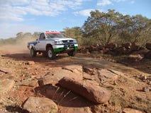 Chemin de désert de véhicule Photos libres de droits
