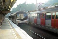 Chemin de fer à Hong Kong image stock