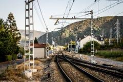 Chemin de fer à infini image libre de droits