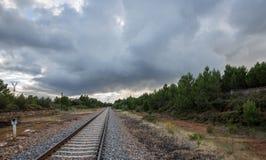 Chemin de fer à l'infini photos stock
