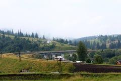 Chemin de fer à la montagne Images stock