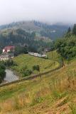 Chemin de fer à la montagne Photos libres de droits