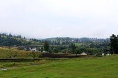 Chemin de fer à la montagne Photo stock