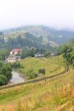 Chemin de fer à la montagne Photographie stock libre de droits