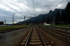 Chemin de fer à la montagne Image libre de droits