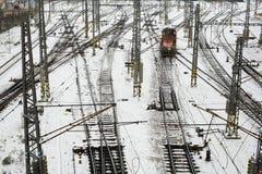 Chemin de fer à Prague Photos stock