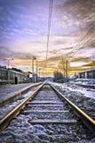 Chemin de fer à quelque part Images libres de droits