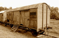 chemin de fer âgé de véhicule Photos libres de droits