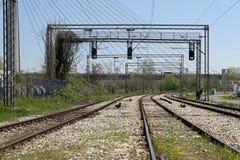 Chemin de fer électrique Photo stock