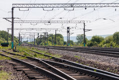 Chemin de fer. Photo libre de droits