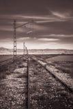 Chemin de fer abandonné Image stock