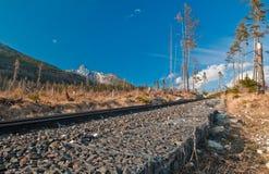 Chemin de fer au ciel Photo libre de droits