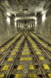 Chemin de fer au fond Images libres de droits