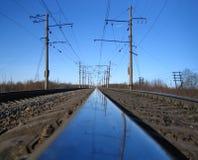 Chemin de fer bleu photo libre de droits