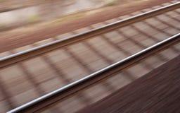 Chemin de fer brouillé Image stock