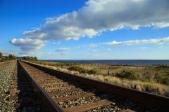 Chemin de fer côtier photographie stock libre de droits