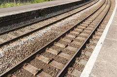 Chemin de fer/chemin de fer BRITANNIQUES Photo stock