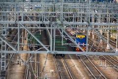 Chemin de fer d'électrification T-conceptions en métal pour les réseaux électriques Photographie stock