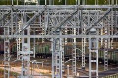 Chemin de fer d'électrification T-conceptions en métal pour les réseaux électriques Images stock