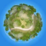 Chemin de fer 3D de planète Image stock