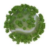 Chemin de fer 3D de planète Photo stock