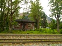 chemin de fer dans le Canada La nature de image libre de droits