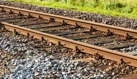 Chemin de fer dans le soleil d'après-midi Images stock