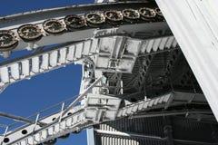 Chemin de fer de câble de roue Photos stock