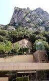 Chemin de fer de câble vers Montserrat monastry, Catalogne Image libre de droits