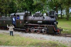 Chemin de fer de mesure étroite en Pologne Photos stock
