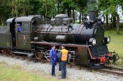 Chemin de fer de mesure étroite en Pologne Image libre de droits