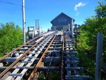 Chemin de fer de montagne images stock