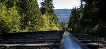 Chemin de fer de montagne Photographie stock