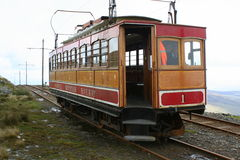 Chemin de fer de montagne de Snaefell Photos stock