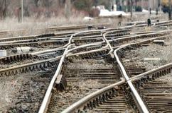 Chemin de fer de noeud photographie stock