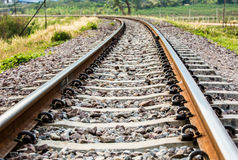 Chemin de fer de plan rapproché dans le lumphun Thaïlande photographie stock