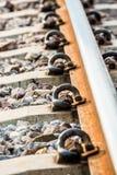 Chemin de fer de plan rapproché dans le lumphun Thaïlande photographie stock libre de droits
